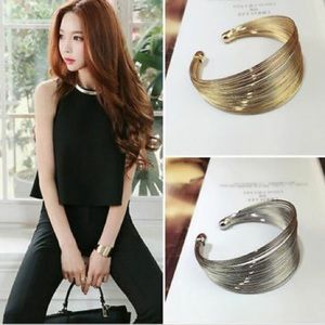 ❤️gorgeous multilayer gold plated bracelet cuff